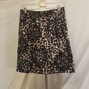 DKNY Cotton Animal/Floral Print Skirt, size 6